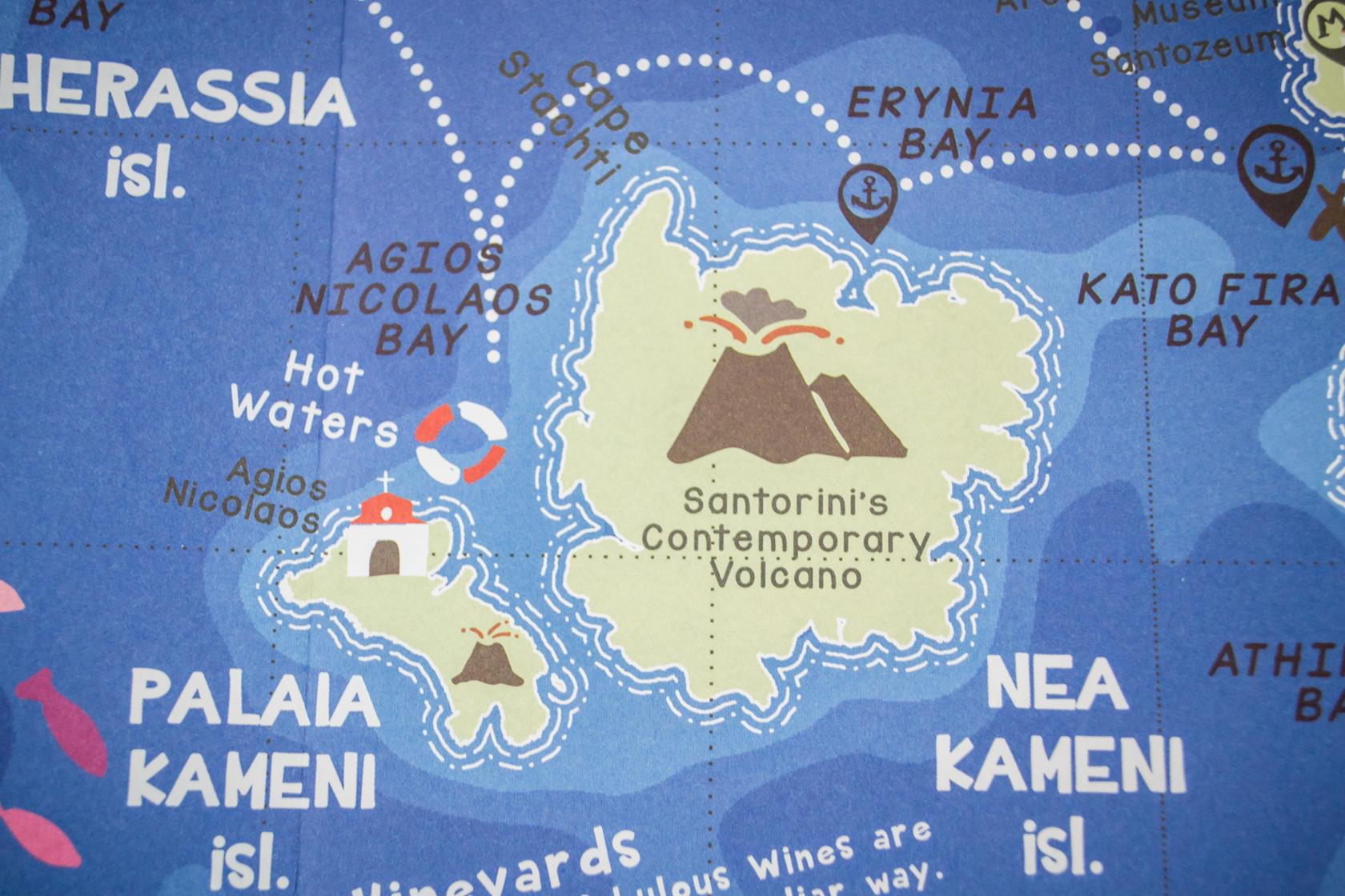 SANTORINI KIDS MAP